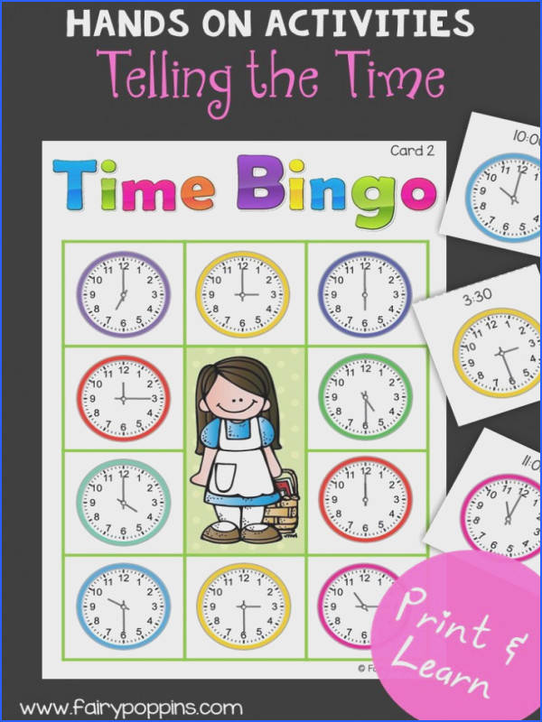 Includes clock craft templates bingo game and worksheets Times