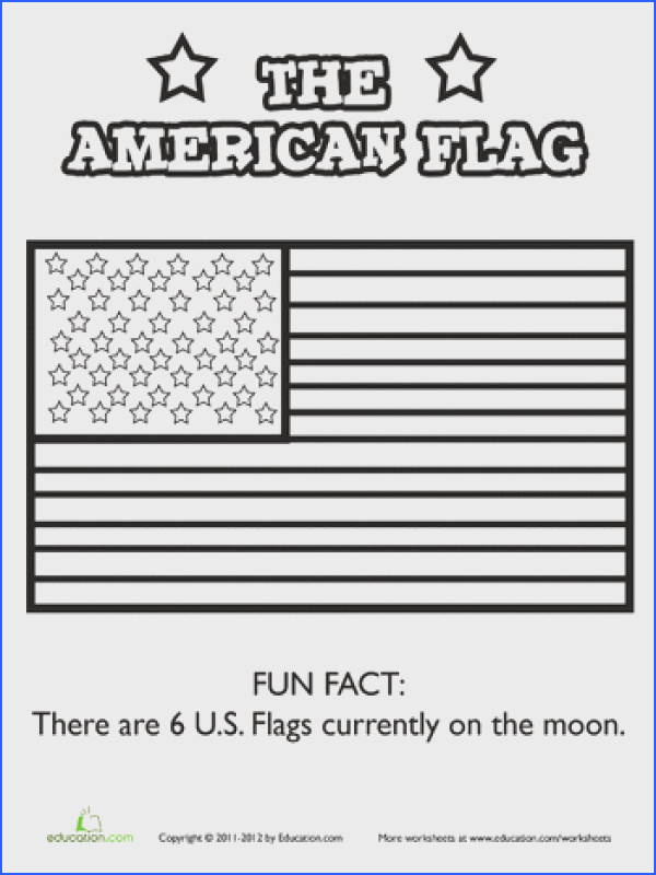Worksheets The American Flag