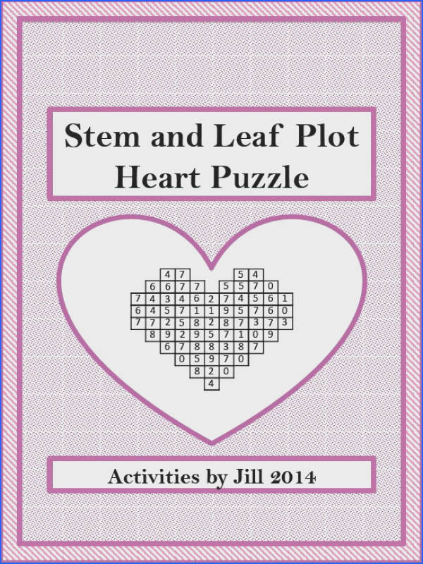 Students will practice finding range mean median and mode using stem and leaf plots graphs They will then locate the answers in the heart shaped