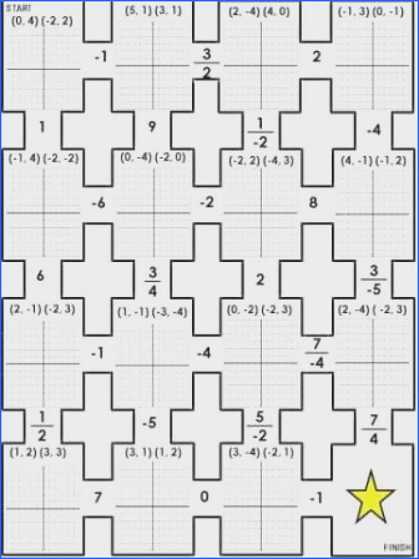 The Math Magazine Graphing Points Rise Over Run Slope Rate of Change Maze Worksheet