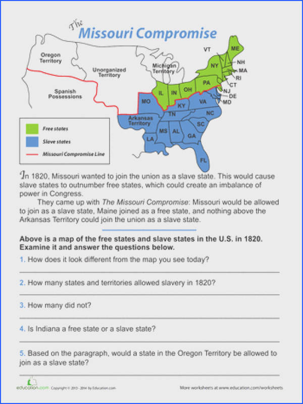 Historical Events Middle School History Geography Worksheets The Missouri promise I am not pletely sure yet but I would try to tie this activity