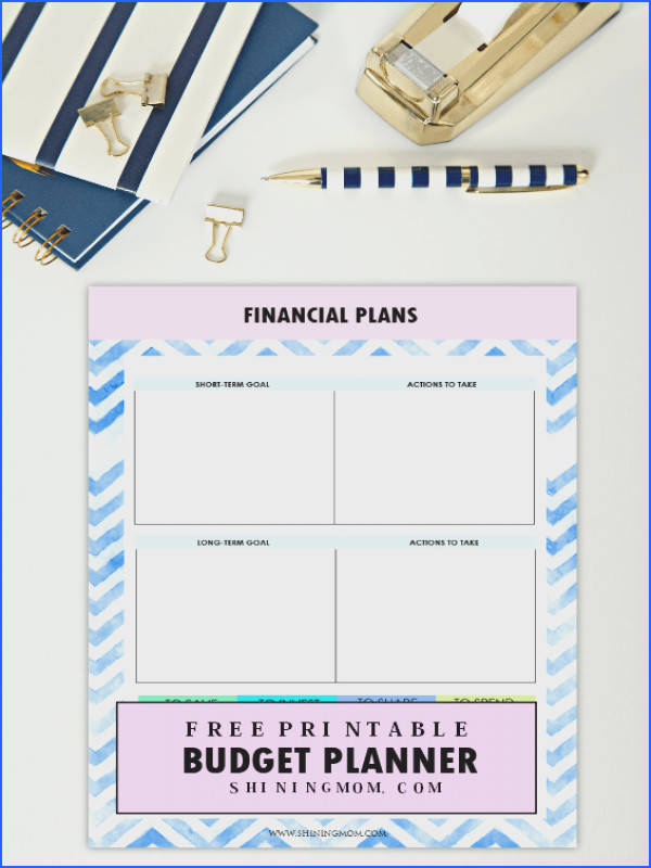 Shining Mom s free printable 2018 bud planner is here It s time to make your money