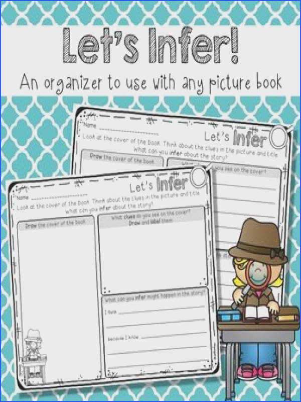 This graphic organizer helps introduce students to the concept of making inferences and works with any