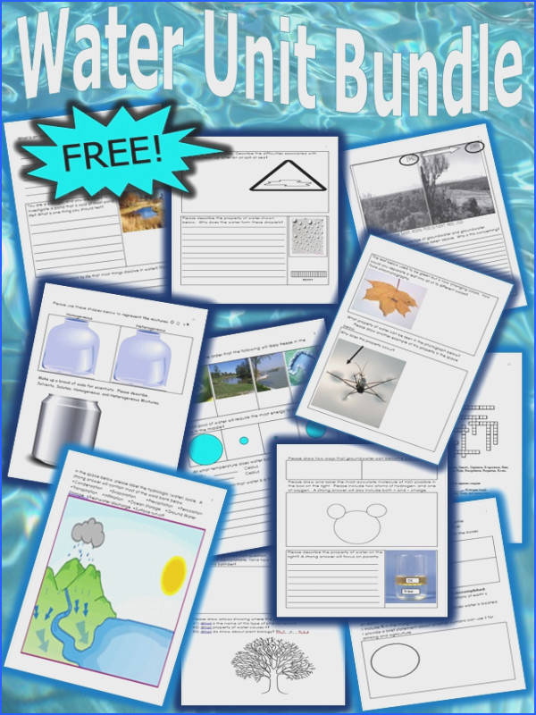 The bundle includes water conservation properties of water the water cycle solutions and much more Answer key is provided