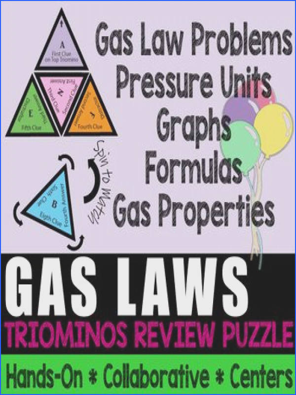 This puzzle is a great review of gas laws unit conversions and general terms