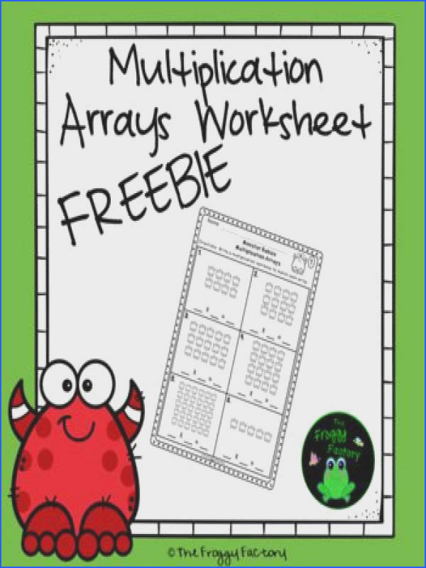 This resource contains one identifying arrays FREEBIE sample from my Multiplication Arrays Worksheet set That