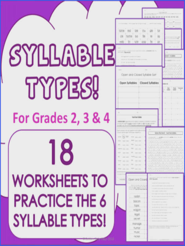 This resource contains the following 2 Open Syllable Worksheets 2 Closed Syllable Worksheets 1 Open