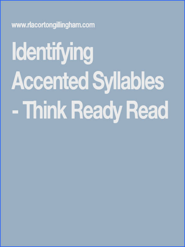 This resource explains how to teach and identify accented syllables Knowing how to identify accented