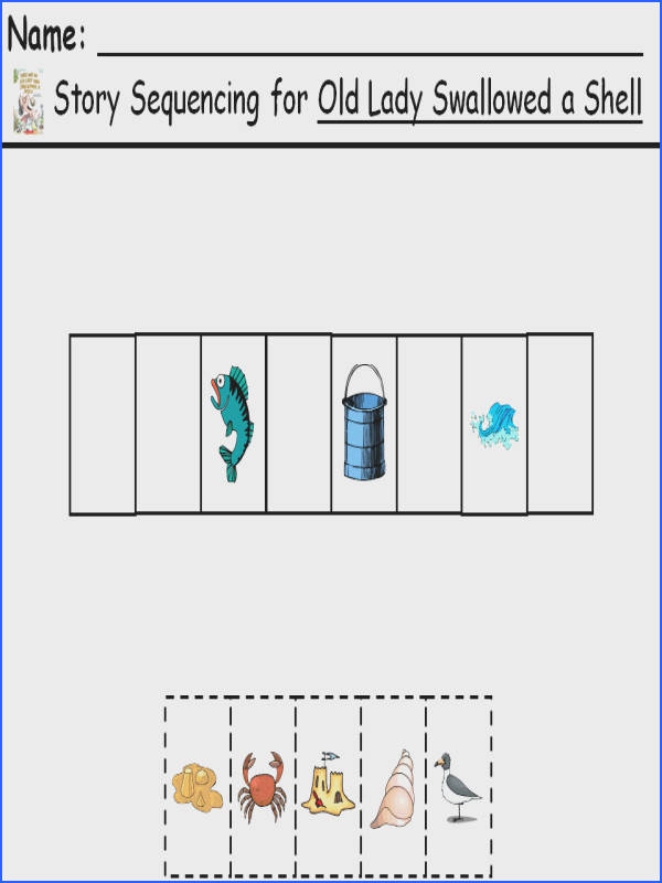 This sequencing worksheet give students an opportunity to place the objects events in order from