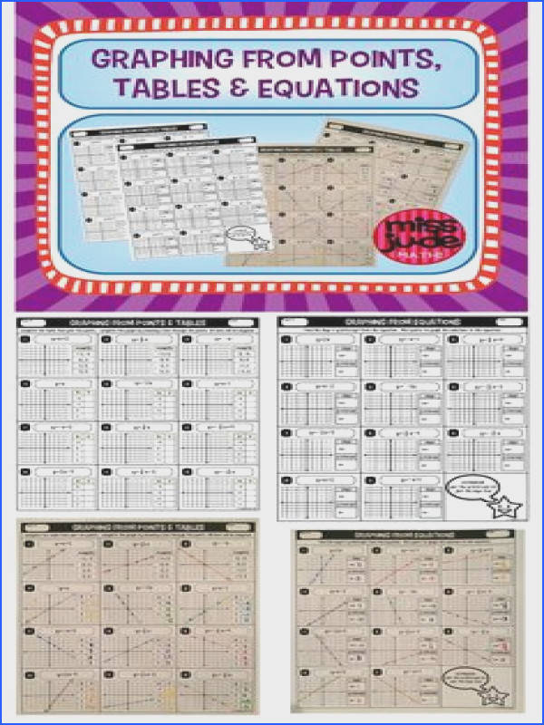 2 pages of practice for students beginning to graph linear equations from points tables