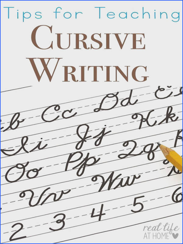 Tips for Teaching Cursive Writing and Why You Should Teach it First