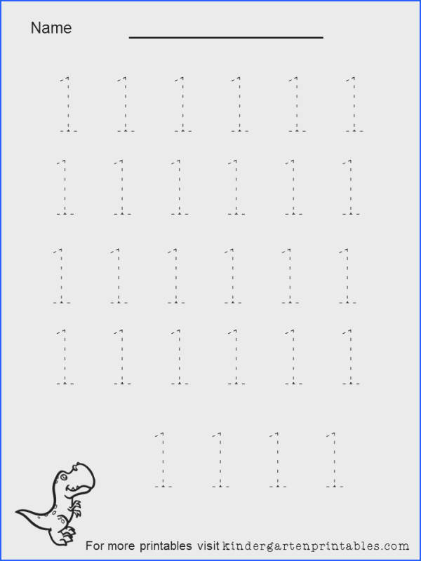 tracing numbers 1 to 5 worksheet Printable worksheet for tracing number 1