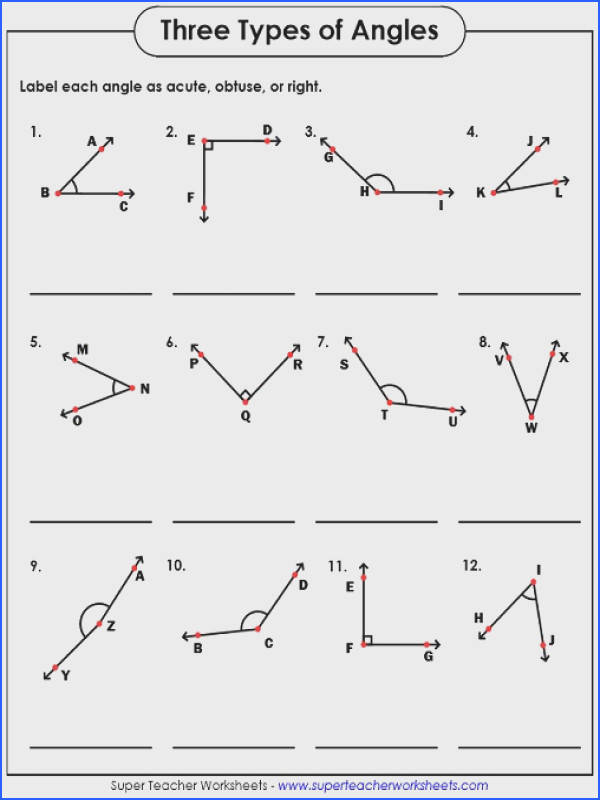 Free Math Worksheets Types Angles With Angle Worksheets Free Math Worksheets Types Angles With Angle Worksheets