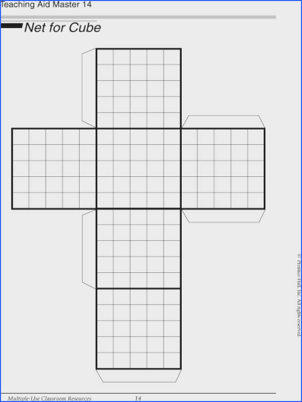 Use this net of a cube to find volume and surface area