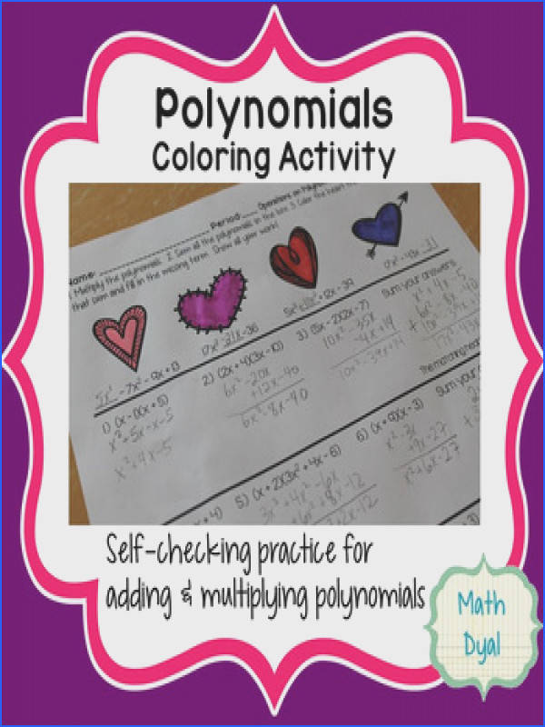 Valentine s Polynomial Operations Coloring Activity