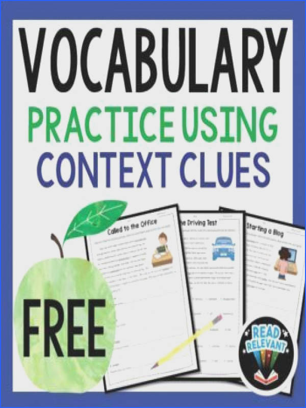 Vocabulary Practice Using Context Clues FREEBIE These free vocabulary worksheets will e in handy