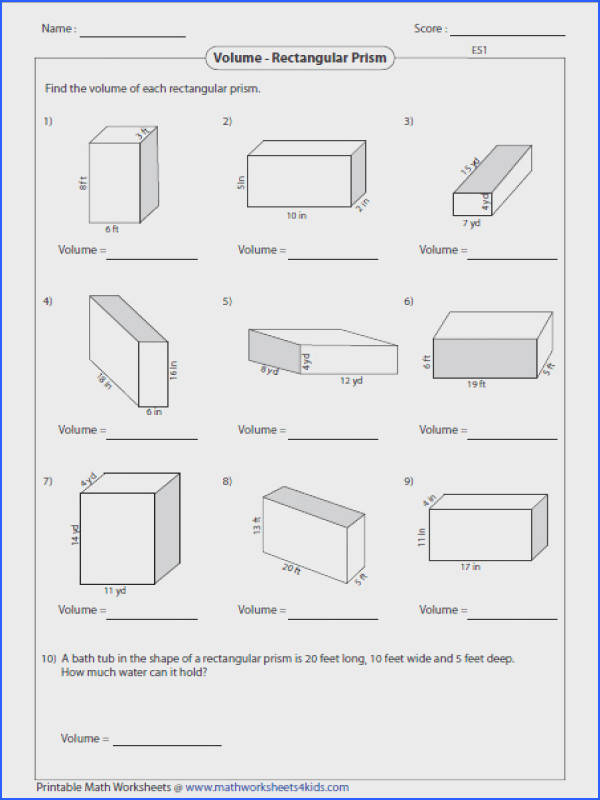 Every interior angle in a convex polygon is less than 180o Based on this property classify Volume Worksheets from Volume
