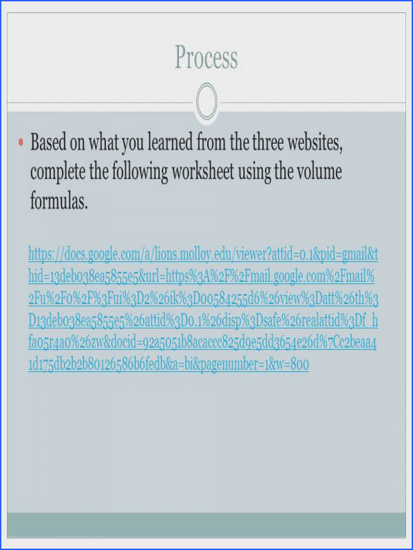 Process Based on what you learned from the three websites plete the following worksheet using