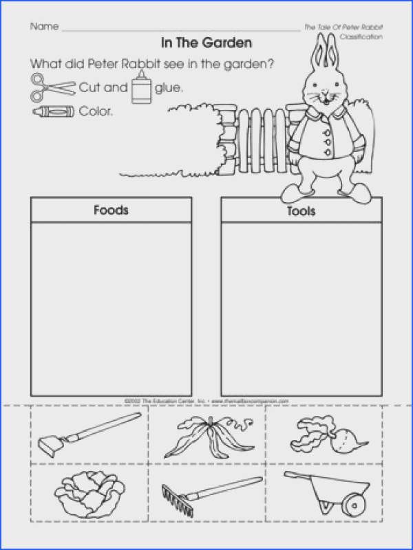 Will you be reading Peter Rabbit to your kiddos this spring This worksheet that reinforces