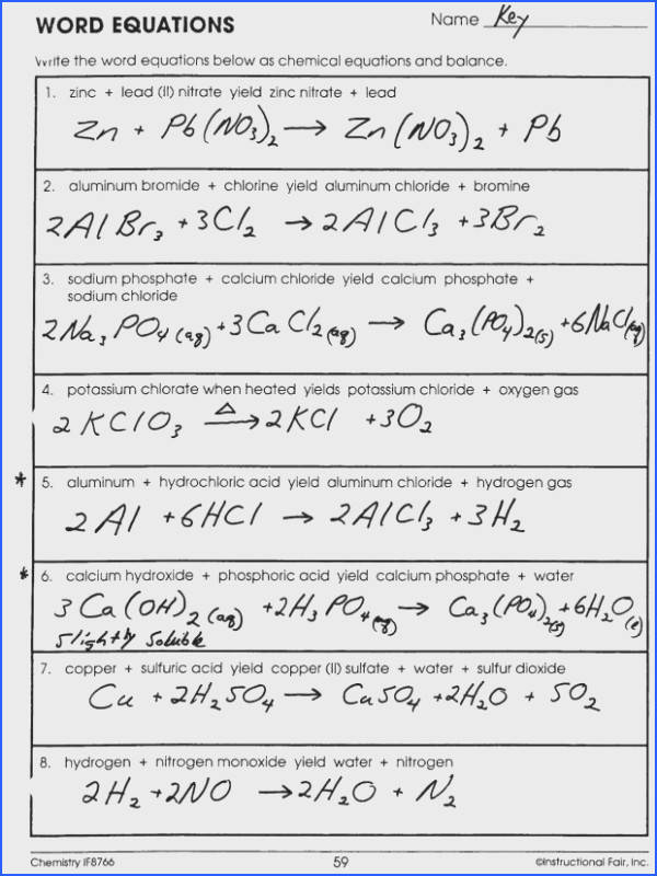 36 Writing chemical equations worksheet Writing Chemical Equations Worksheet Word Best Mr Brueckner S Chemistry