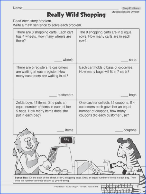 Word Problem Worksheets For 4Th Grade Worksheets for all Download and Worksheets
