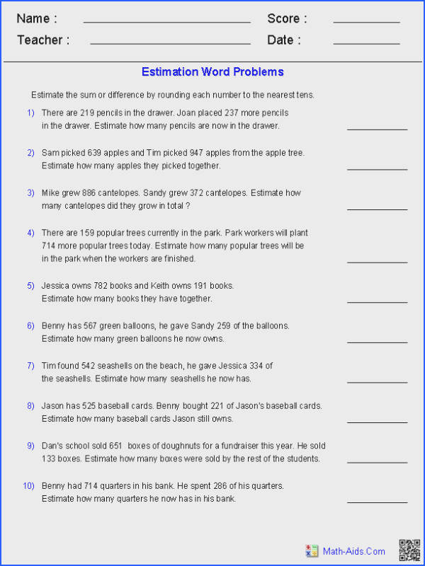 Word Problems Worksheets 4Th Worksheets for all Download and Worksheets