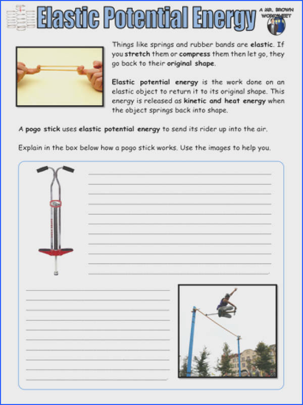 Re mended resources Elastic Potential Energy