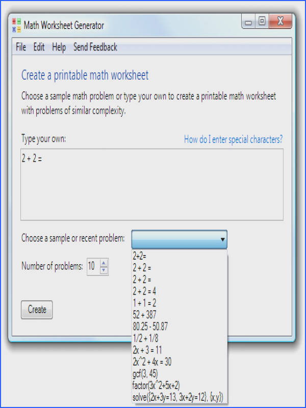 Math Worksheets Creator Worksheets for all Download and Worksheets