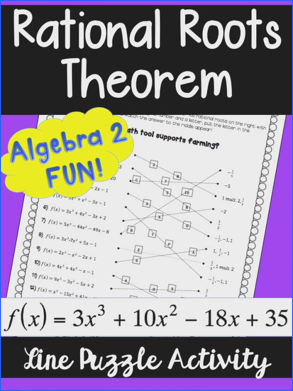 Worksheet Piecewise Functions Algebra 2 Answers Unique Rational Roots theorem Line Puzzle Activity Worksheet