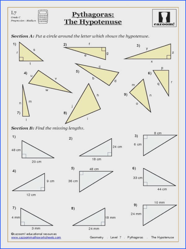 trigonometry and pythagoras worksheets geometry year 10 0cb2e996f12d912e51a cbc an image part of worksheets citizenship in