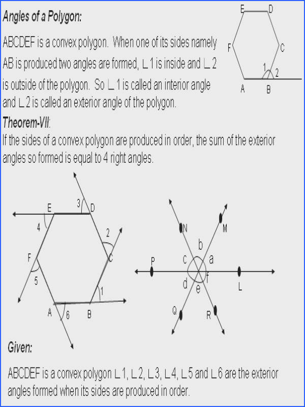 Prepossessing Worksheets Exterior Angles Polygons Also Theorem Sum The Exterior Angles