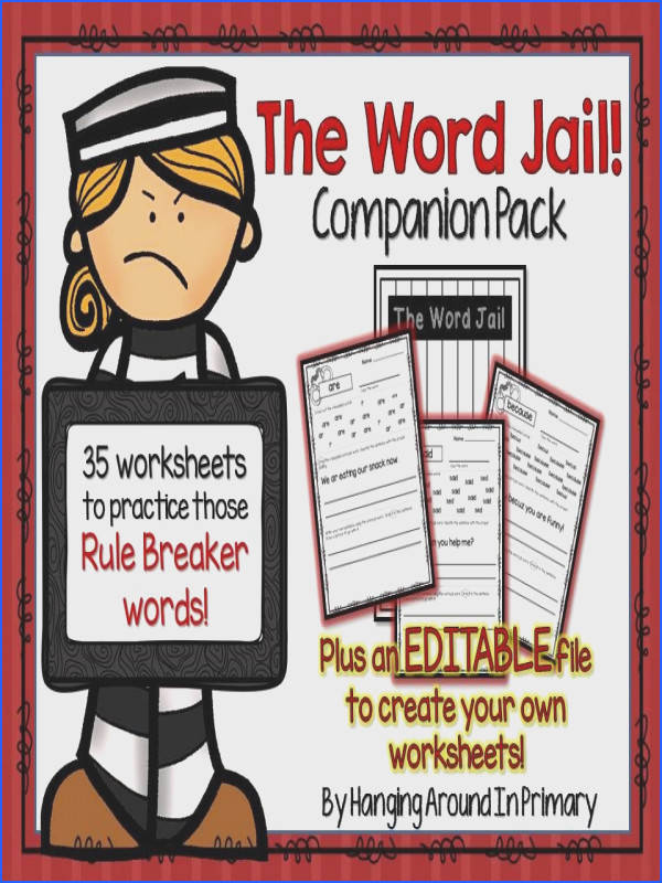 35 worksheets to use ac pany The Word Jail a place for sight words with tricky