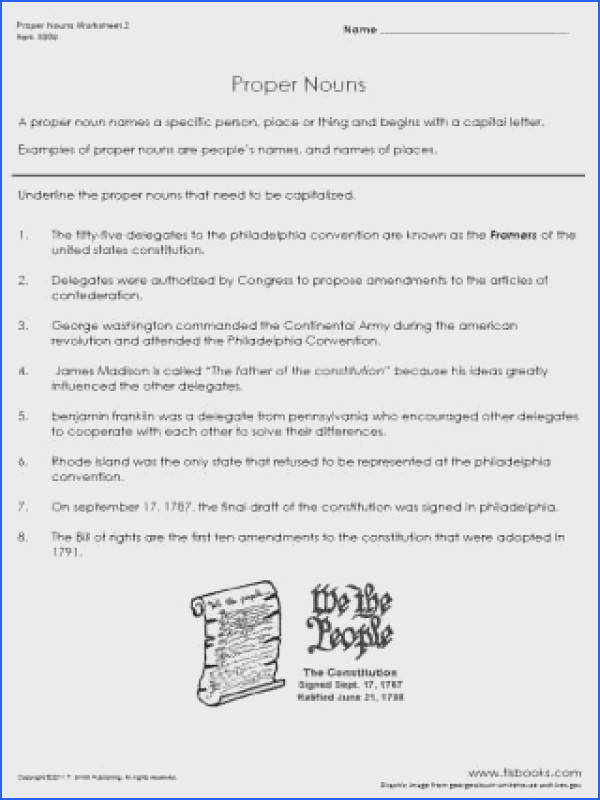 Captivating Worksheets Grade 4 Nouns With Additional Proper Nouns Worksheet 2 of Worksheets Grade 4