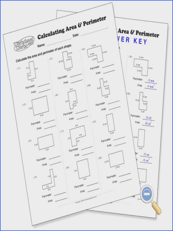 Worksheet Works Calculating Area And Perimeter Answers Worksheets for all Download and Worksheets