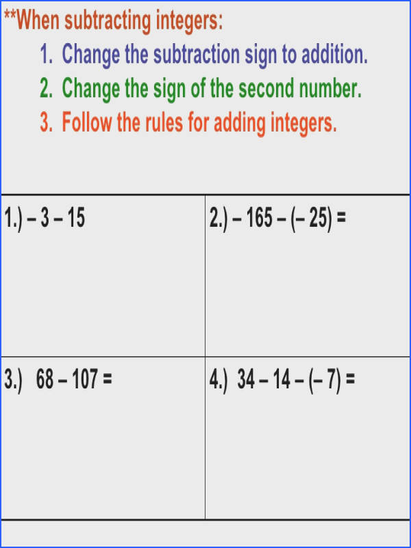 Homework Help Adding And Subtracting Integers Worksheet Word NMC munity Chapter Toastmasters