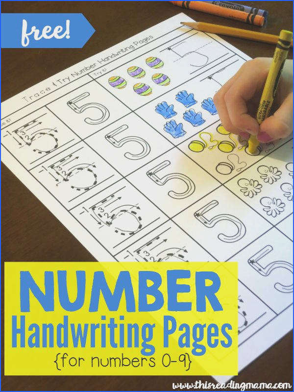 Writing Numbers with Trace and Try Handwriting Pages Preschool Number WorksheetsNumber