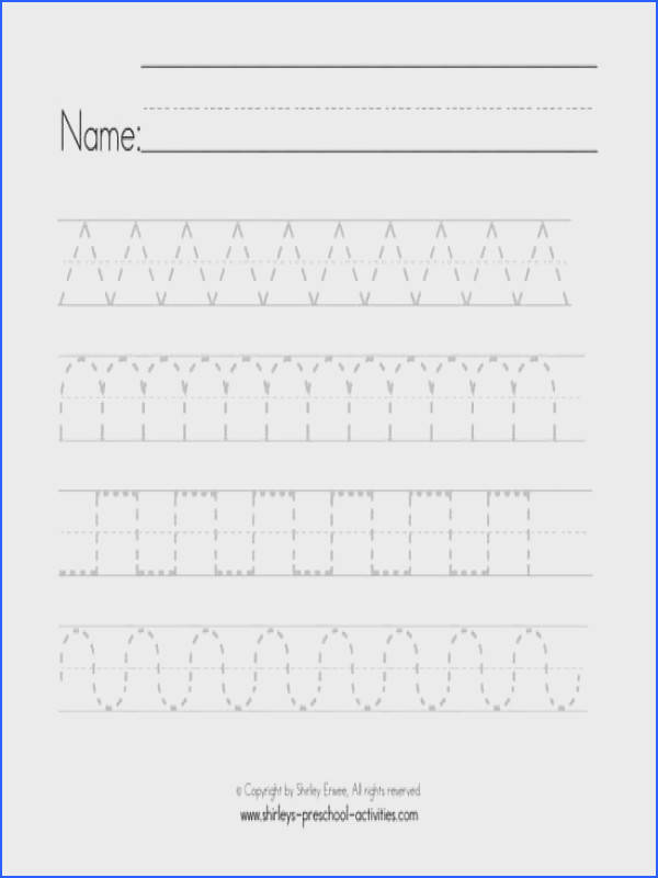worksheet with zig zags waves and other patterned lines for pre writing practice