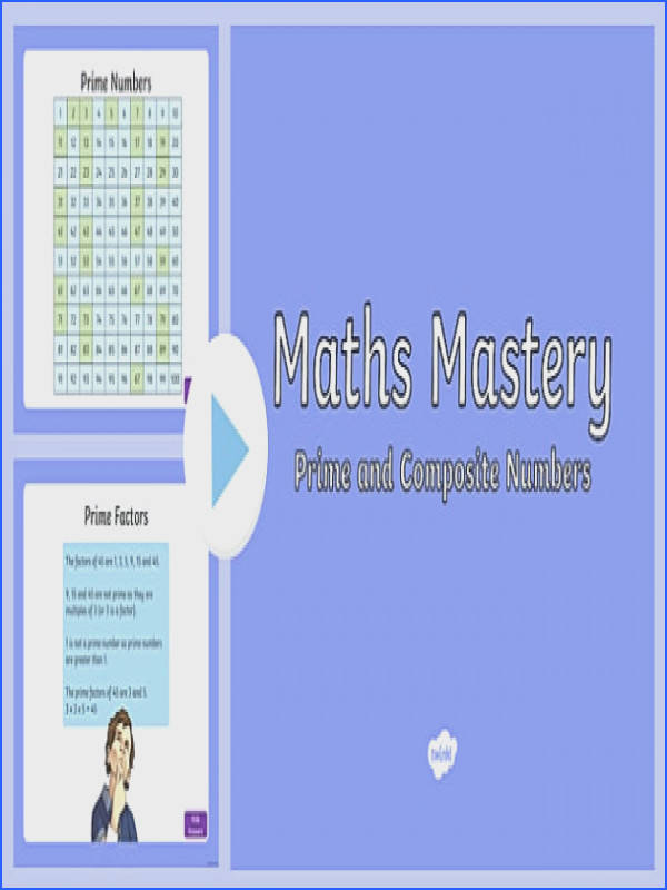 Year 5 Multiplication and Division Prime and posite Numbers Maths Mastery PowerPoint